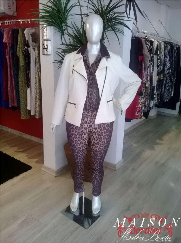 animal print com jaqueta