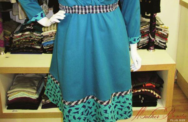 vestido guda azul