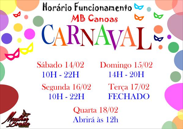 cartaz horário carnaval canoas 12-02